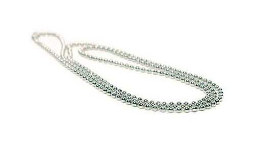 AC208 Nickel-Free Steel Beaded Chain with connector