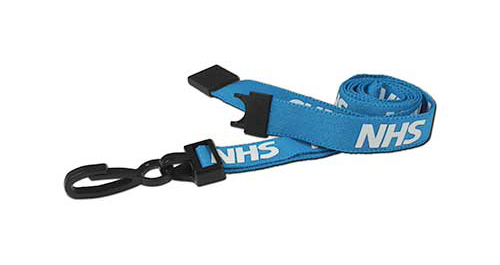 AC222-NHS NHS Breakaway Lanyard with Plastic Dog Clip