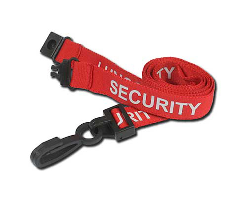 AC222-SY Security Breakaway Lanyard with Plastic Dog Clip