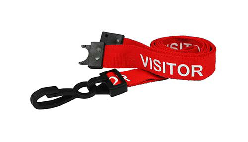 AC222-VR Visitor Breakaway Lanyard with Plastic Dog Clip