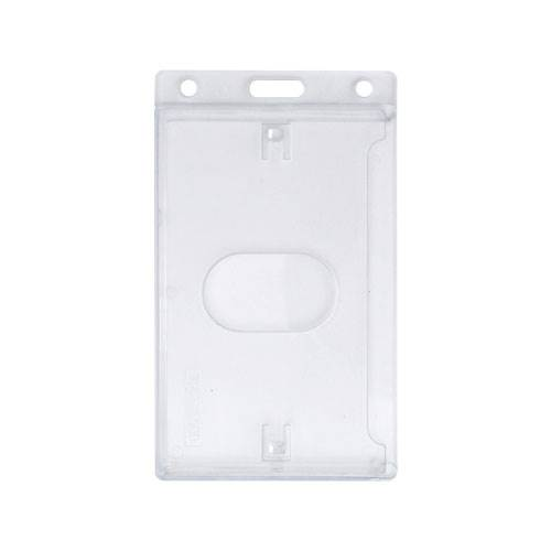 AC30216 Polycarbonate Portrait Enclosed ID Card Holder