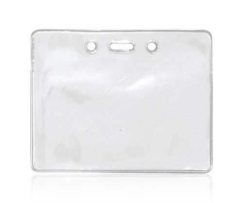 AC30310C Clear Vinyl Landscape ID Card Holder